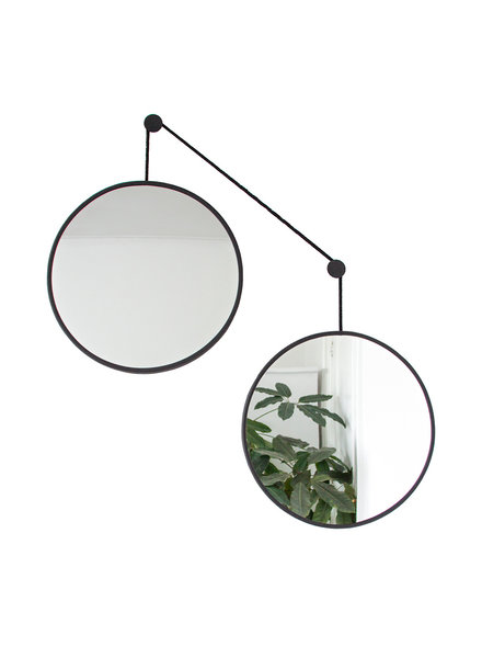 Mirror set TWINS black