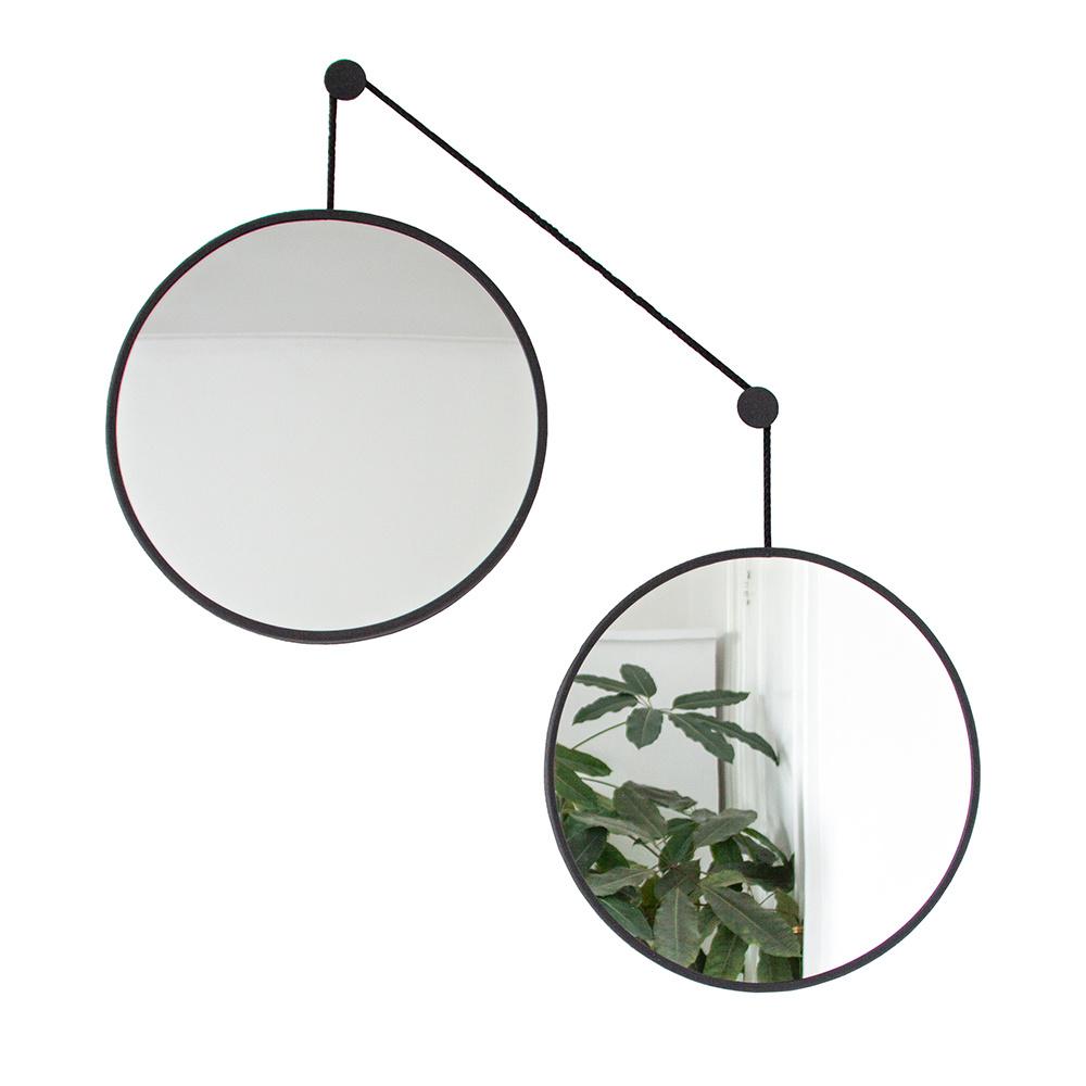 Mirror set TWINS - black