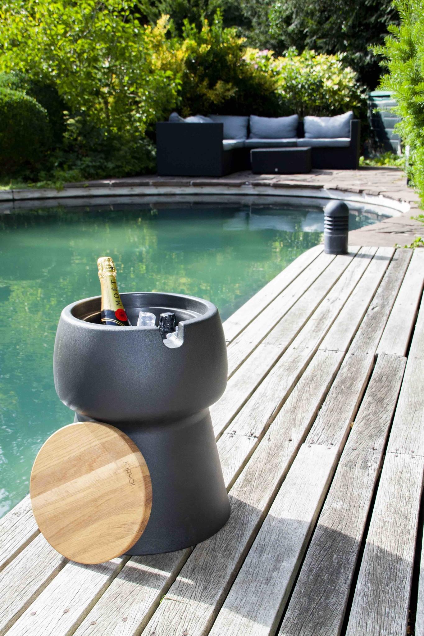 Champ Champ stool/cooler - Black