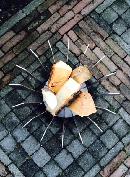 Flint Flint corten steel firepit