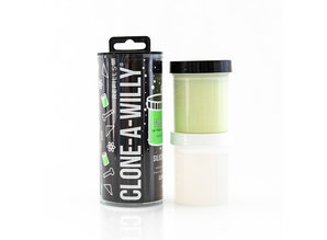 Clone-A-Willy Clone-A-Willy - Refill Glow in the Dark Green Silicone