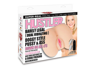 Hustler Hustler - Barely Legal Dual Vibrating Doggy Style Pussy & Ass