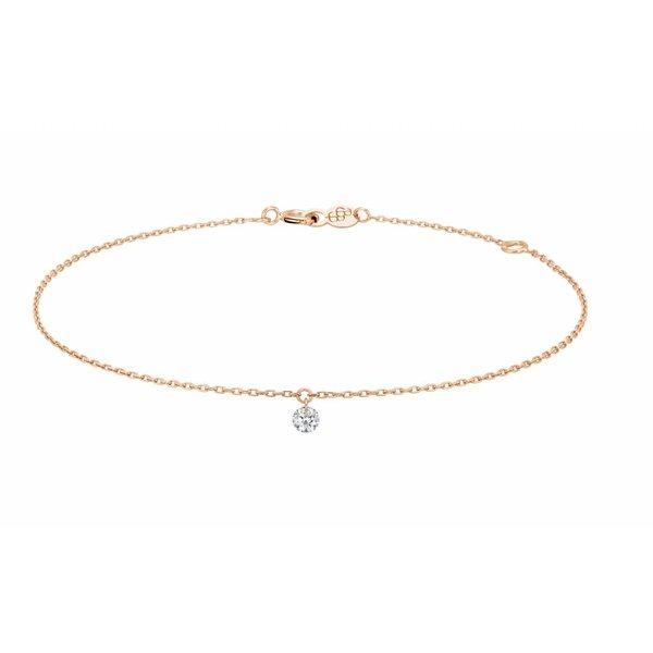 Armband 360°, Roségold 18 Kt, Diamant 0,1 Kt