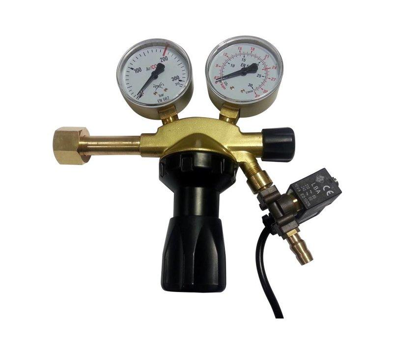 CO2 válvula reductora de presión con válvula de solenoide pro