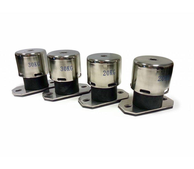 Vibration isolator springs