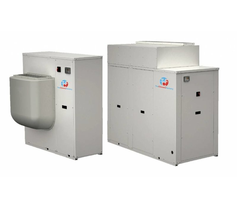 Water chiller for indoor placement