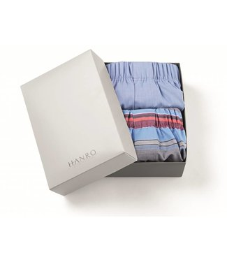 Fancy Woven Boxers 2-Pack Horizontal & Blue