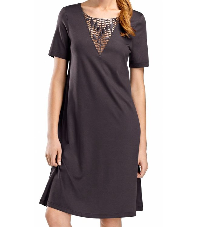 Violetta Dress Short Sleeve Carbon