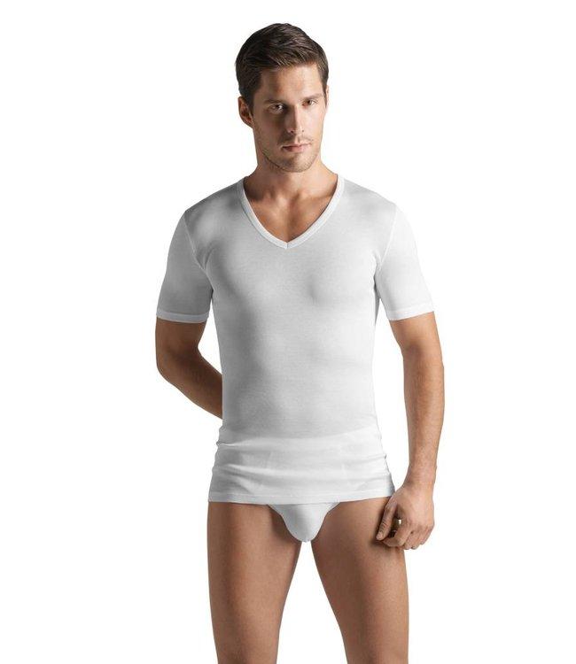 Cotton Pure V-neck Shirt White