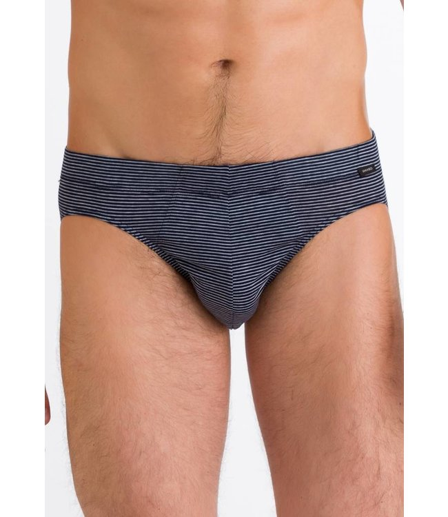 Sporty Stripe Brief Marine Grey