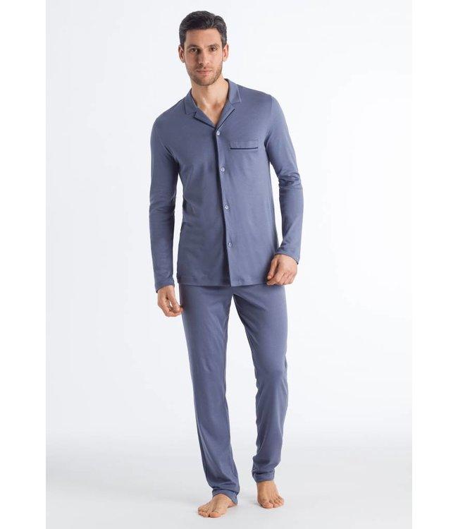 Narius Long Sleeve Pyjama Cliff Blue