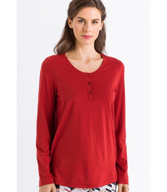 Sleep & Lounge Long Sleeve Rusted Red