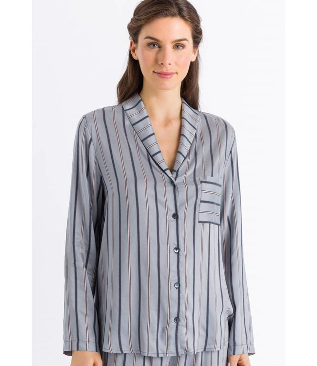 Malie Long Sleeve Powder Blue Stripe