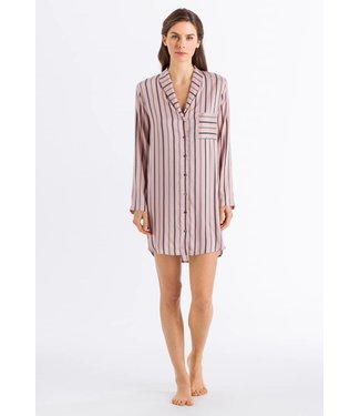Malie Long Sleeve Nightdress Tender Apricot Stripe