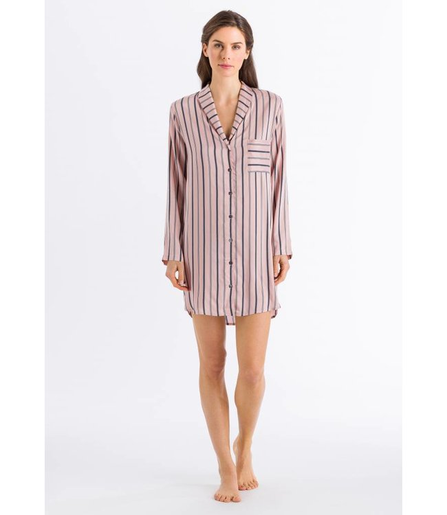 Malie Long Sleeve Nightdress Tender Apricot Stripe (SALE)