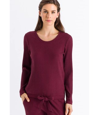 Minna Long Sleeve Shirt Wine (NIEUW)