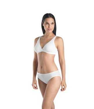Cotton Seamless Soft Bra White