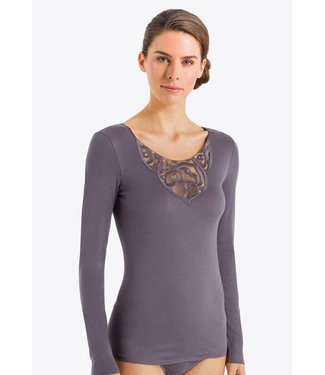 Ella Long Sleeve Feathered Grey