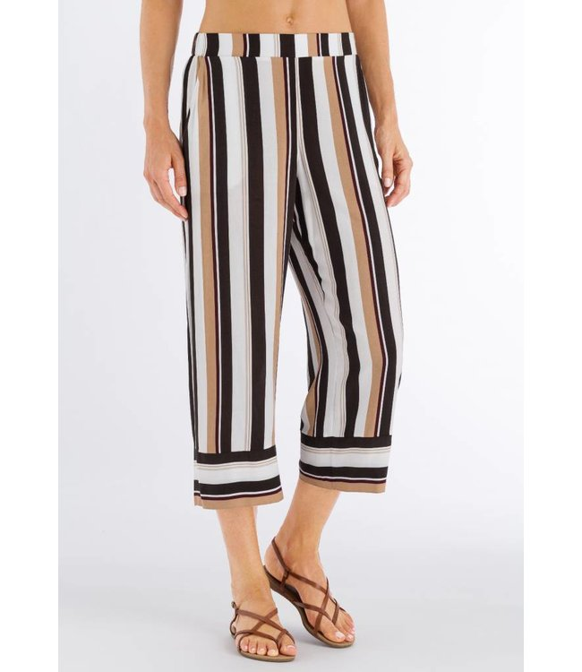Favourites Crop Pants Everglade Stripe