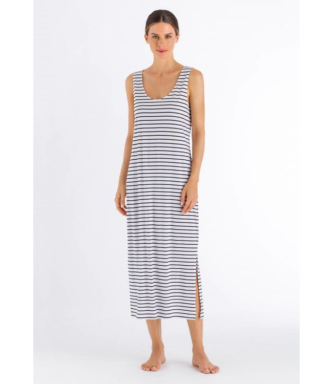 Laura Sleeveless Nightdress Dark Blue Stripe (NIEUW)