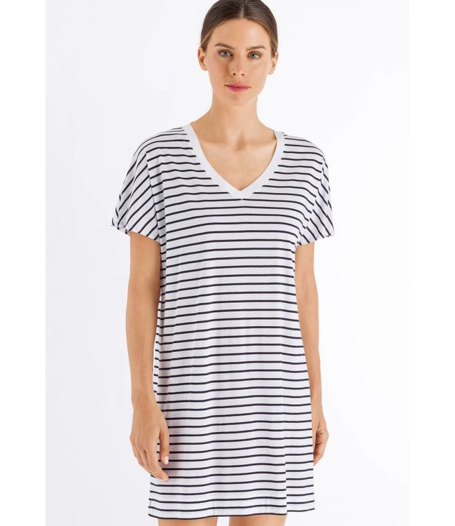 Laura Nightdress Dark Blue Stripe