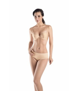 Satin Deluxe Padded Bra Natural