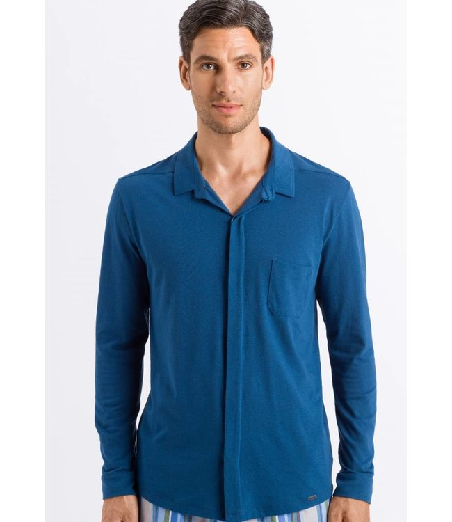 Luca Button Shirt Dark Sea