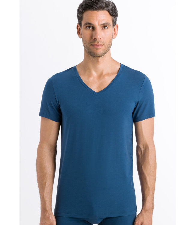Cotton Superior Shirt V-Neck Dark Sea