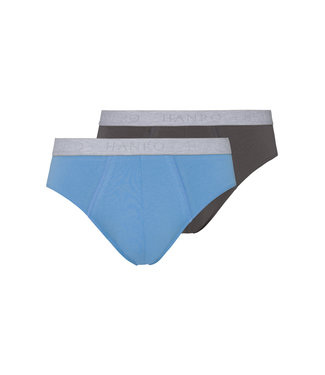 Cotton Essentials Briefs 2-Pack Concrete & Atlantic