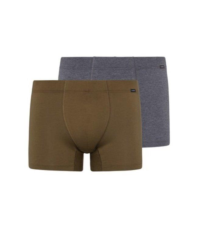Cotton Essentials Pants 2-Pack Artichoke/Coal Melange