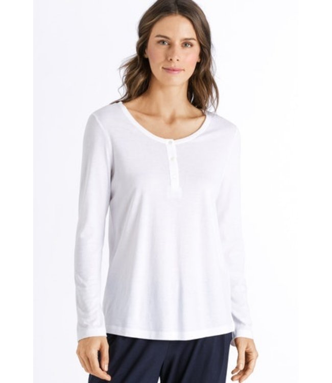 Sleep & Lounge Long Sleeve Shirt White (NEW)