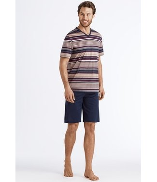 Hanro Darian Short Pajama Bordeaux Stripe (NEW)