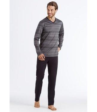 Hanro Darian Long Pajama Grey Stripe