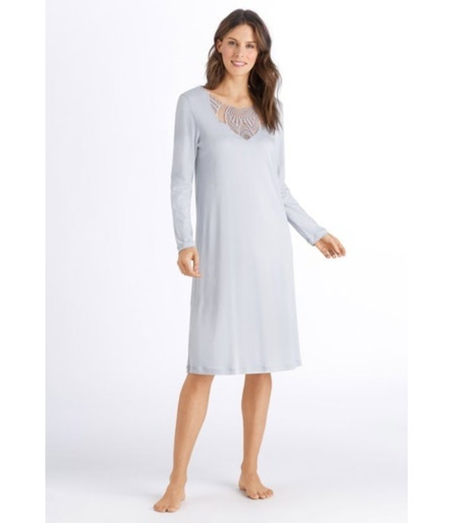 Adina Long Sleeve Nightdress Celadon Grey (NEW)