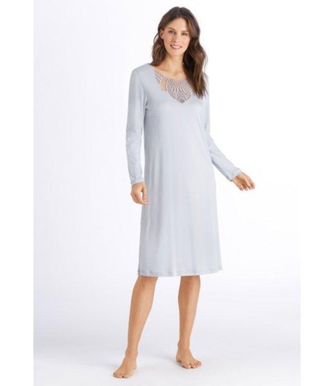 Adina Long Sleeve Nightdress Celadon Grey (SALE)