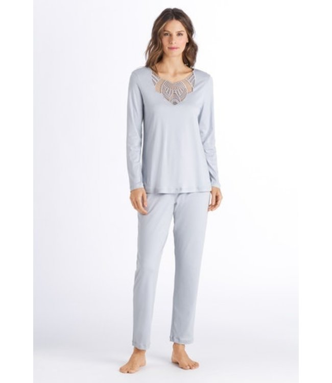 Adina Long Sleeve Pajama Celadon Grey (NEW)