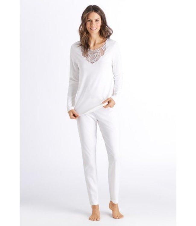 Adina Long Sleeve Pajama Off White (NEW)