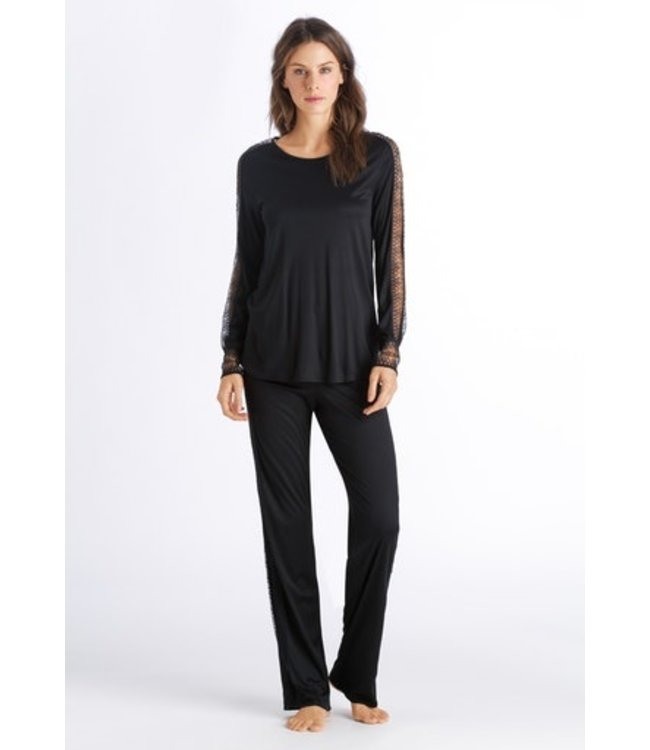 Amanda Long Sleeve Pajama Black (NEW)
