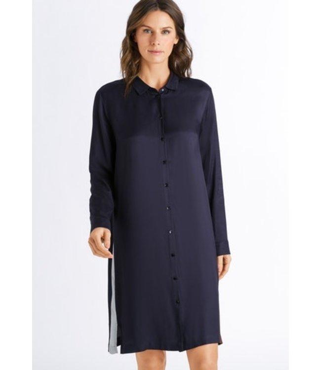 Nori Long Sleeve Nightdress Major Blue