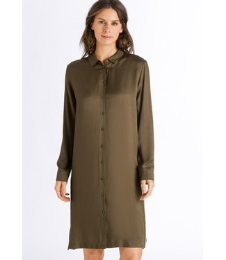 Nori Long Sleeve Nightdress Strong Olive