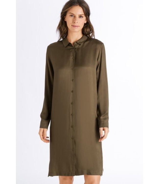 Nori Long Sleeve Nightdress Strong Olive (SALE)