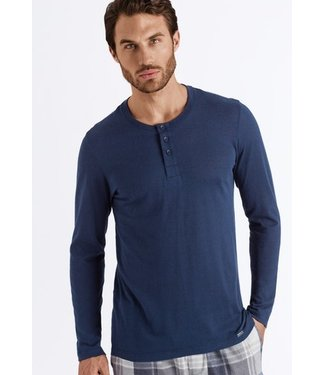 Thilo Long Sleeve Henley Midnight