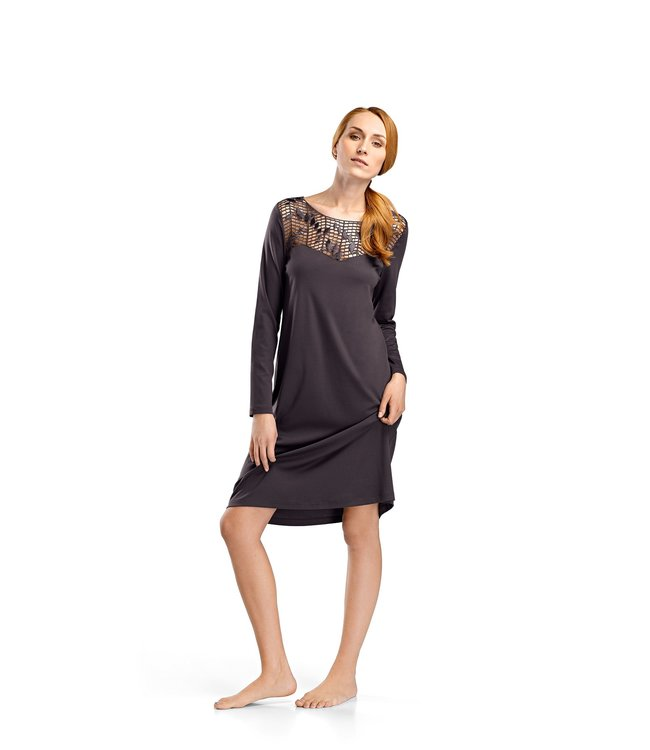 Violetta Dress Long Sleeve Carbon