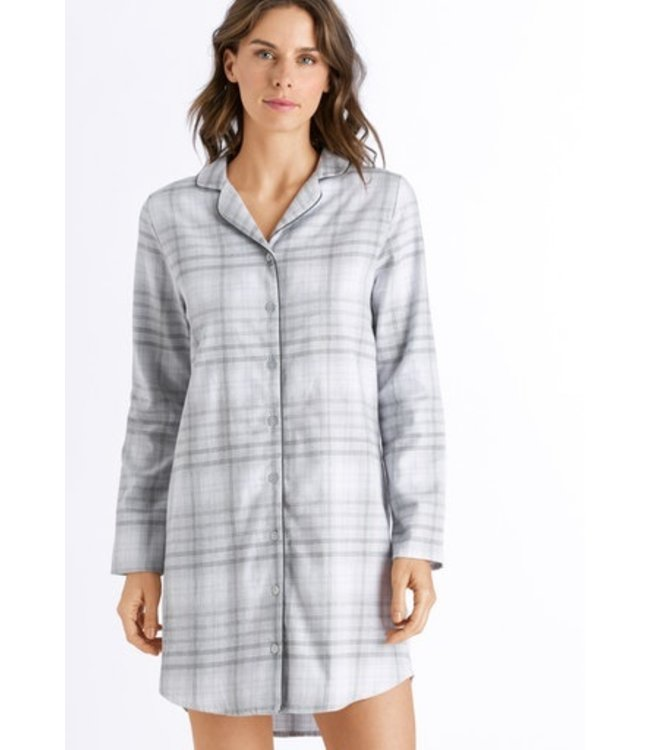 Edda Long Sleeve Nightdress Grey Check