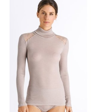 Rubina Turtle-Neck Shirt Stone (NEW)