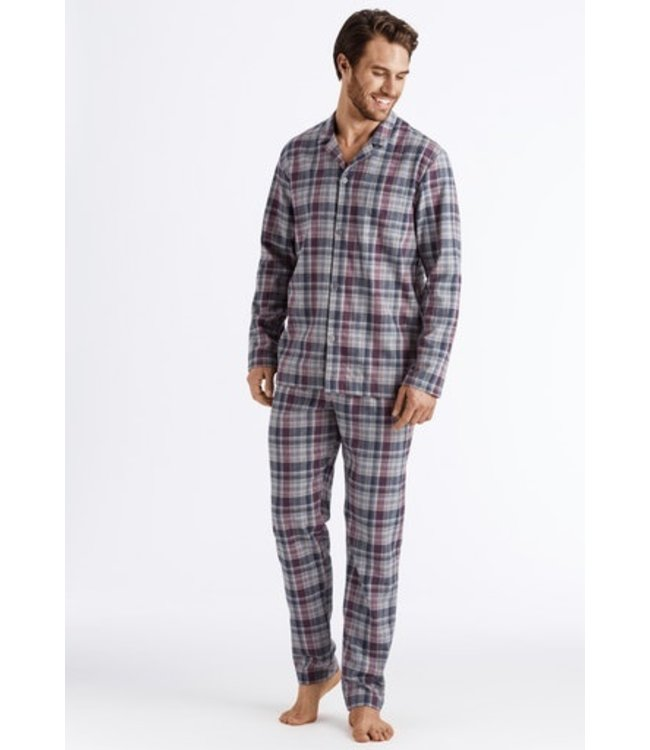 Thilo Pyjama Bordeaux Check