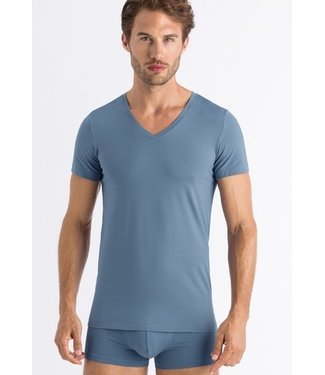 Cotton Superior Shirt V-Neck Caribbean Blue (NEW)