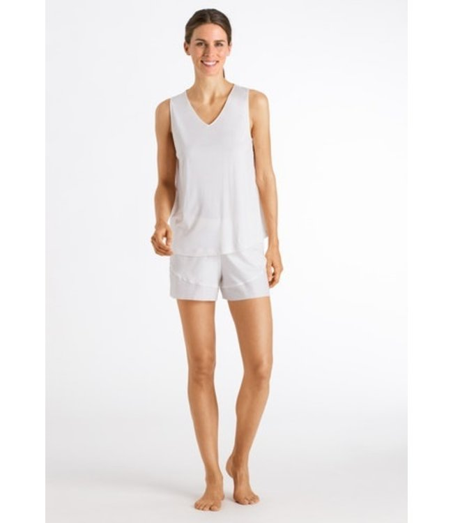 Alika Sleeveless Short Pyjama Off White (NEW ARRIVALS)