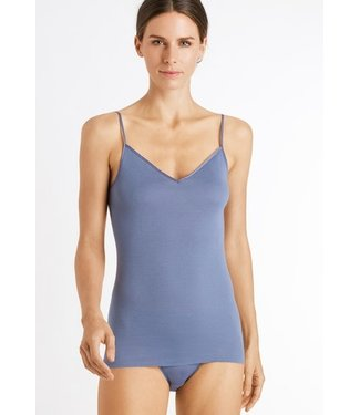 Cotton Seamless Spaghetti Top Caribbean Blue (NEW ARRIVALS)