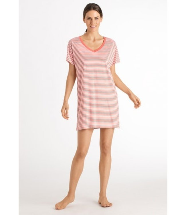 Hanro Laura Nightdress Grapefruit Stripe (NEW ARRIVALS)